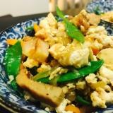 春の絹さや入りごま香る炒り豆腐