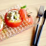 鯖缶とケフィアのトマトサラダ