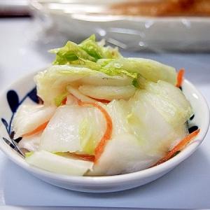 干し白菜の浅漬け