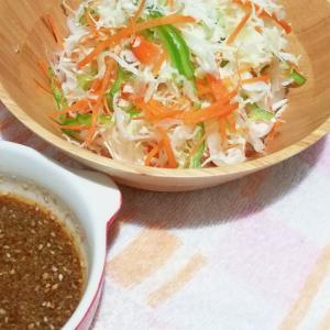わさびドレッシングで簡単千切り野菜サラダ