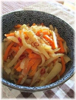 菊芋とにんじんのきんぴら