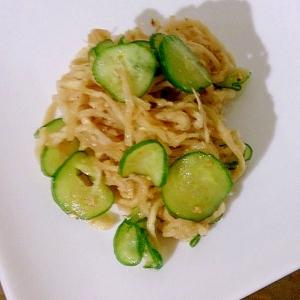 きゅうりと切干大根の中華サラダ