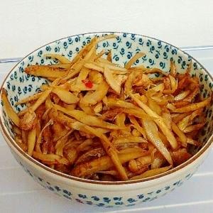 中華風・鶏皮のピリ辛きんぴらごぼう
