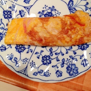 カニカマとダシ醤油の和風卵焼き