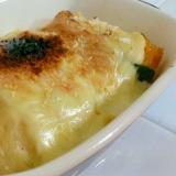残った南瓜の煮物で簡単ほくほくパンプキングラタン