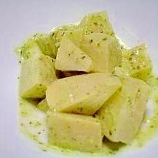 筍と大葉でジェノバ風クリームチーズサラダ