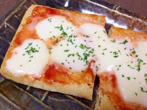 モッツァレラチーズで☆油揚げのピザトースト