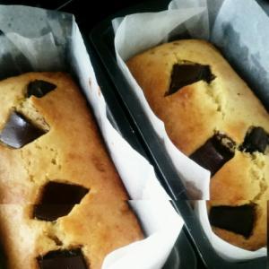 パン粉を加えてチョコレーズンパウンドケーキ