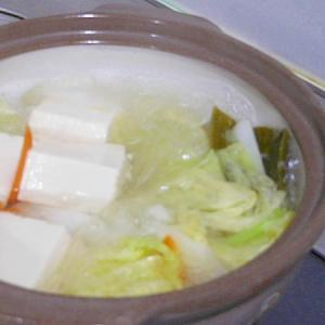 簡単な湯豆腐