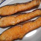 フライパンで!生鮭の塩焼き