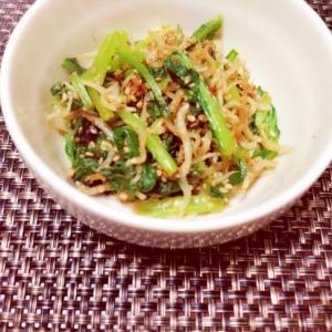 簡単!コストコしらすで小松菜とジャコの醤油炒め