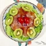 生ハムと赤玉葱のサラダ