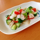 水菜・たこ・きゅうりのサラダ