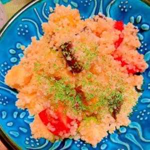 ごろごろ夏野菜くすくす(・m・ )サラダ