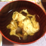 麺つゆで簡単に☆シメジと卵のおつゆ