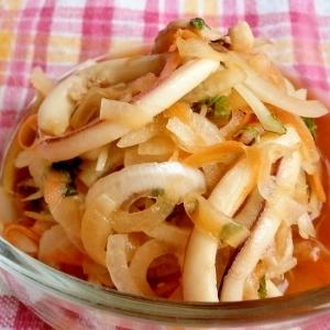 イカと野菜の甘酢漬け