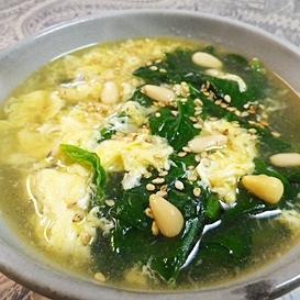 スピード料理、ホウレン草スープ