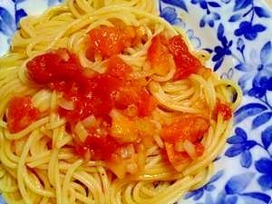 新タマいっぱいのトマトソーススパゲティー