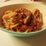 簡単美味!さば缶のトマトパスタ