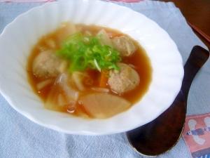 ❤ 肉団子&大根入りキムチスープ ❤