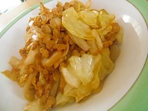 キムチ風味の野菜炒め