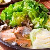 インパクト大! 鮭と白菜の豆乳鍋