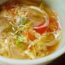 レンジで一人分!脂肪燃焼スープ(中華風バージョン