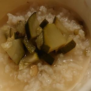 ズッキーニと緑豆粥