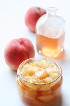 煮桃と桃シロップ