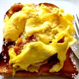 朝食に!チキンエッグトースト
