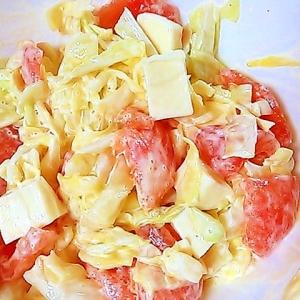 キャベツ・トマト・チーズの辛子マヨネーズ和え
