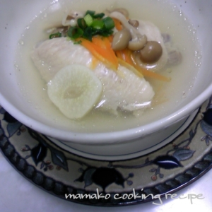 にんにくは西洋の出汁!!♡減塩DE手羽先のスープ♡