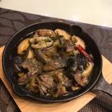 砂肝と椎茸のアヒージョ
