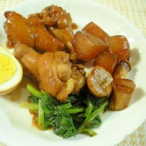 鶏手羽元の黒糖酢煮