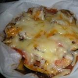 茄子と焼き豚のチーズ焼き