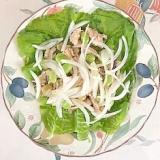 ほぐしサラダチキンに、枝豆、玉葱