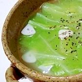 キャベツとにんにくの中華スープ