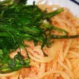 しそたっぷりたらこスパゲッティ