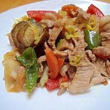 たっぷり野菜の味噌炒め