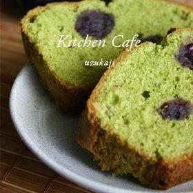 抹茶と小豆の水玉パウンドケーキ
