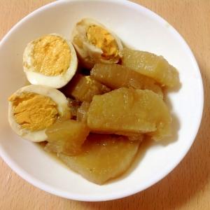 大根とゆで卵の簡単麺つゆ煮(o^^o)
