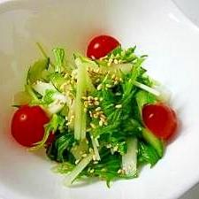 余った浅漬け活用術!余った浅漬け+水菜で簡単サラダ