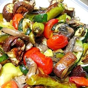 グリル野菜のガーリック醤油風