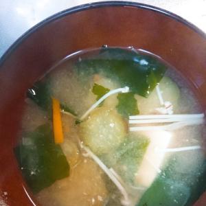 茄子とえのきのお味噌汁