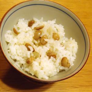乾煎り&下茹で不要☆余った節分豆で作る福豆ご飯