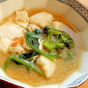 まな板なし❤残り野菜で男の手料理な味噌汁(卵)♪
