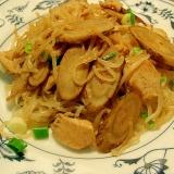 鶏牛蒡の糸こんパスタ 生姜風味