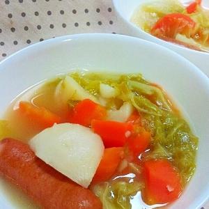 旬の野菜を使って✿カブと白菜のポトフ❤