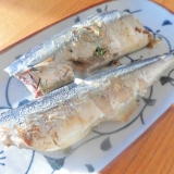 秋刀魚の岩塩グリル