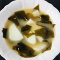 ワカメとじゃが芋の味噌汁++